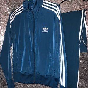 Adidas Teal Jogging Suit Set